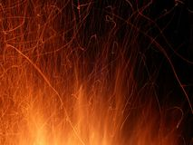 Flame and Sparks Stock Photo