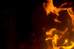 Flame with sparks Stock Images