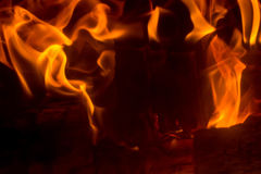 Flame with sparks Stock Photos