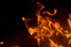 Flame with sparks Royalty Free Stock Photo