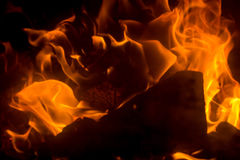 Flame with sparks Royalty Free Stock Photography