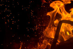 Flame with sparks Stock Photography