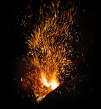 The flame sparks from a forge Royalty Free Stock Images