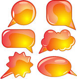 Flame speech bubble set Royalty Free Stock Image