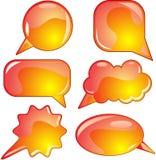 Flame Speech Bubble Set Royalty Free Stock Image