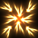 Flame star Royalty Free Stock Photos