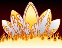 Flame surf boards design. Vector illustration of flame surf boards design Royalty Free Stock Image