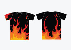 Flame t-shirt Royalty Free Stock Image