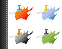 Flame tags Royalty Free Stock Images