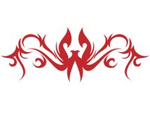 Flame and tattoo Royalty Free Stock Photography