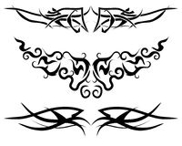 Flame tattoo. Patterns of tribal tattoo for design use Royalty Free Stock Image