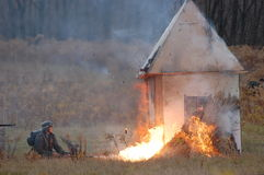Flame-thrower Royalty Free Stock Images