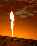 Flame thrower. Stadium concert, a flame thrower Stock Photos