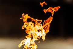 Flame tongues Stock Images