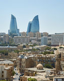 Flame tower, Baku, Azerbaijan Stock Images