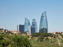 Flame tower, Baku, Azerbaijan. Flame tower located in the center of Baku, Azerbaijan royalty free stock photos