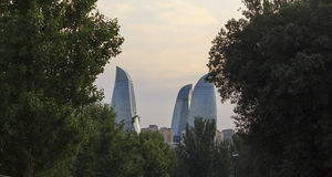 Flame Towers in Baku Royalty Free Stock Images