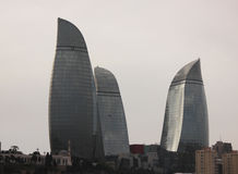 Flame  Towers in Baku Stock Photography