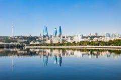 Flame Towers in Baku Stock Photos