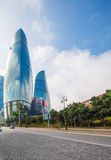 Flame Towers on March 10 in Azerbaijan, B Stock Images