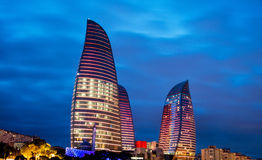 Flame Towers on March 9 in Azerbaijan, Bak Stock Photo