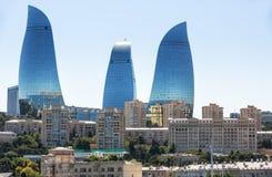 Flame Towers skyscraper in Baku, Azerbaijan Stock Photography