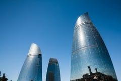 Flame Towers skyscraper in Baku, Azerbaijan Stock Image
