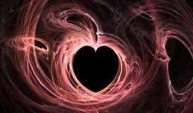Flame Trace Heart Royalty Free Stock Images
