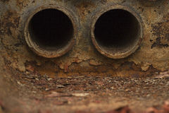 Flame tubes of boilers Royalty Free Stock Photos