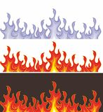 Flame in vector Stock Photo