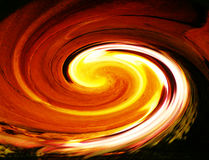 Flame vortex. Beautiful fire and flame mixture vortex Royalty Free Stock Images