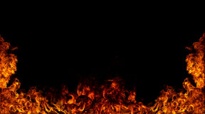 Flame wall Royalty Free Stock Photography