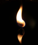 Flame. This was a candle light taken very close up Stock Photo