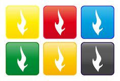 Flame Web Button Royalty Free Stock Photography