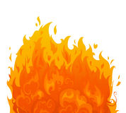 Flame on white background. Royalty Free Stock Photography