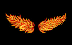 Flame Wings. Vector Flame Wings isolated on black background Stock Image
