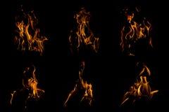 Flamea la chimenea Imagen de archivo libre de regalías