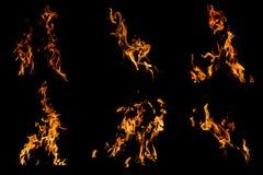 Flamea la chimenea Imagenes de archivo