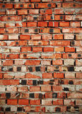 Flamed brick wall, textured background Stock Photos