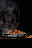 Flamed hot bbq Royalty Free Stock Images
