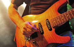Flamed Maple Guitar Stock Image