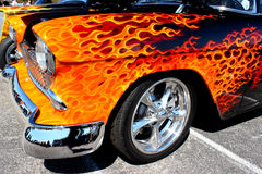 Flamed Out Hot Rod Stock Image