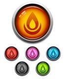 Flamee el icono del botón libre illustration