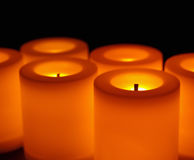 Flameless candles Stock Photo