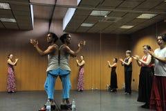 """Flamenco δάσκαλος Miguel Vargas στο Flamenco κέντρο """"Λα Merced """"τέχνης στο Καντίζ στοκ φωτογραφίες"""