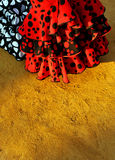 Flamenco φορέματα, έκθεση της Σεβίλης, Ανδαλουσία, Ισπανία στοκ φωτογραφία με δικαίωμα ελεύθερης χρήσης