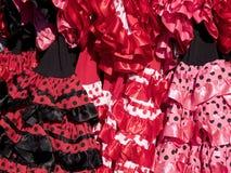 Flamenco φορέματα Στοκ εικόνες με δικαίωμα ελεύθερης χρήσης