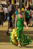flamenco φορεμάτων γυναίκα Στοκ Εικόνες