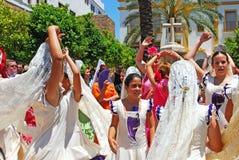 Flamenco χορευτές, Marbella, Ισπανία. Στοκ Φωτογραφία