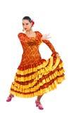 flamenco χορευτών γυναίκα Στοκ εικόνες με δικαίωμα ελεύθερης χρήσης